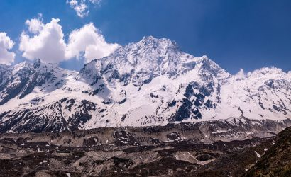 panoramic view of Mount Manaslu