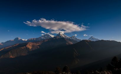 Annapurna South and Himchuli from poonhill